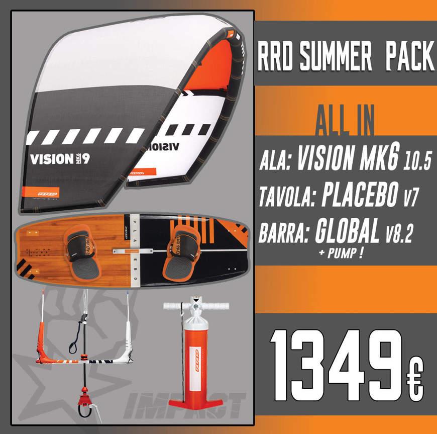 RRD KITE PACK Vision Mk6 + Placebo V7 + Global Bar V 8.2 + RRD Pump