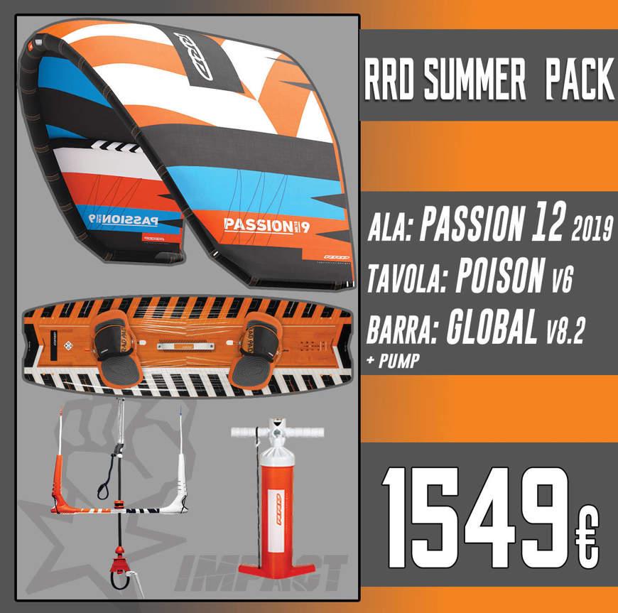 RRD KITE PACK Passion Mk10 + Poison V6 + Global Bar V 8.2 + RRD Pump