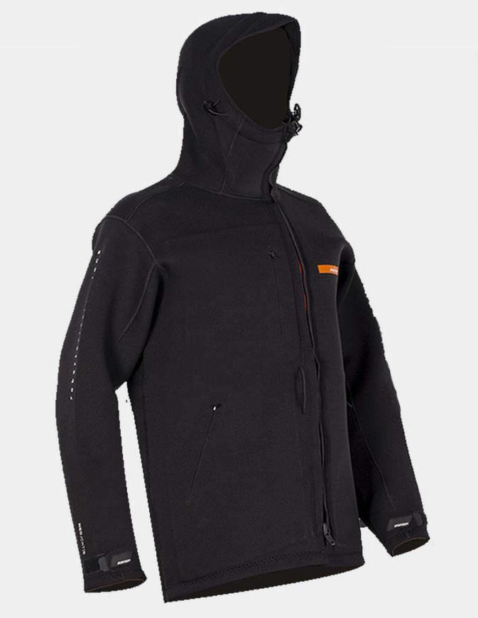 RRD Giacca Uomo Neoprene Long Jacket Nera/Arancione