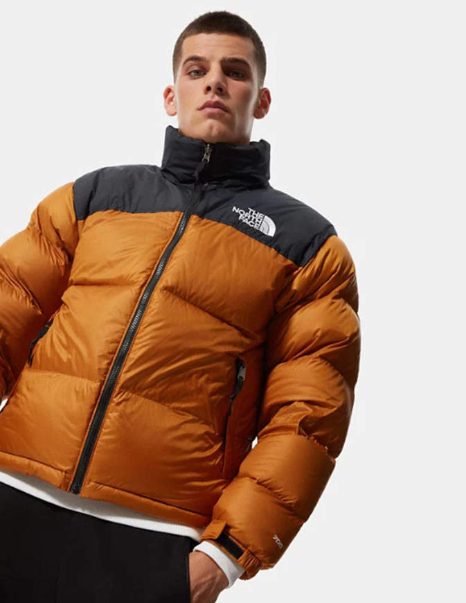 THE NORTH FACE Giacca Ripiegabile Uomo 1996 Retro Nuptse Marrone