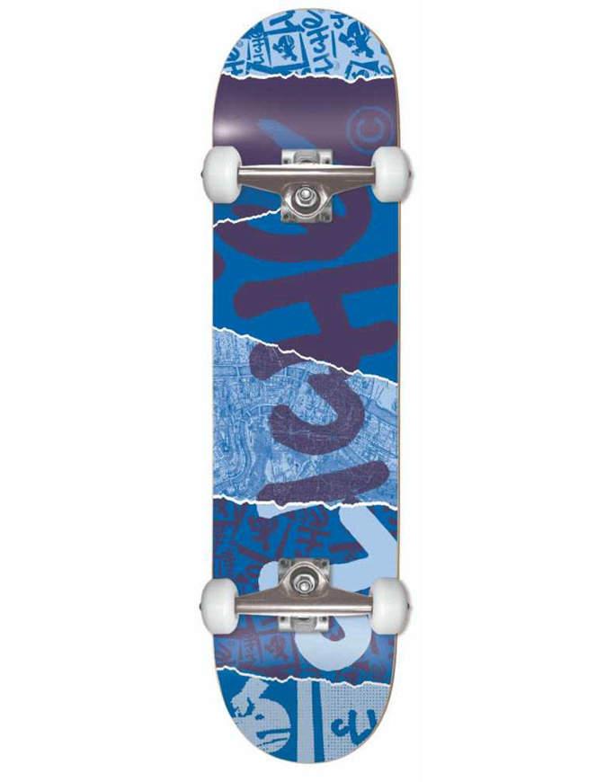 Skateboard completo Cliche Ripped FP Blue 8.0