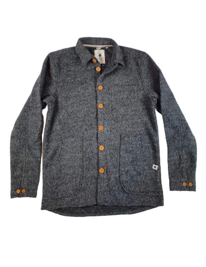 Anerkjendt Camicia Akotto Boiled Wool Grigia