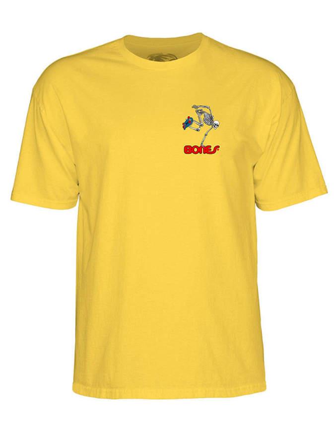 Powell Peralta Skateboarding Skeleton T-shirt Uomo Gialla