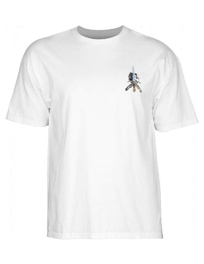 Powell Peralta Skull & Sword T-shirt Uomo Bianca