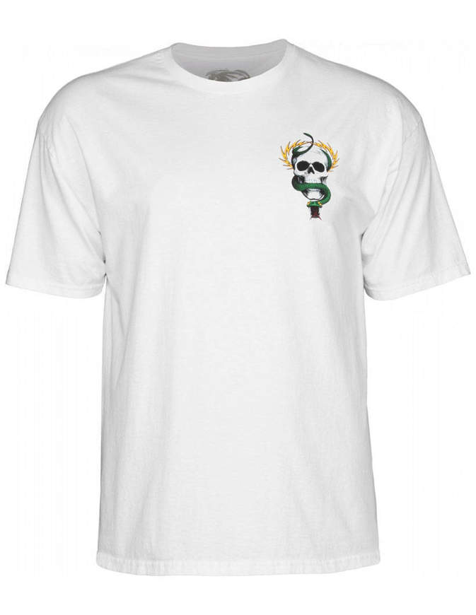 Powell Peralta Skull & Snake T-shirt Uomo Bianca