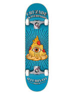 """Skateboard Cruzade Illuminaty Pizza 8.0"""" x31.85"""" Completo"""