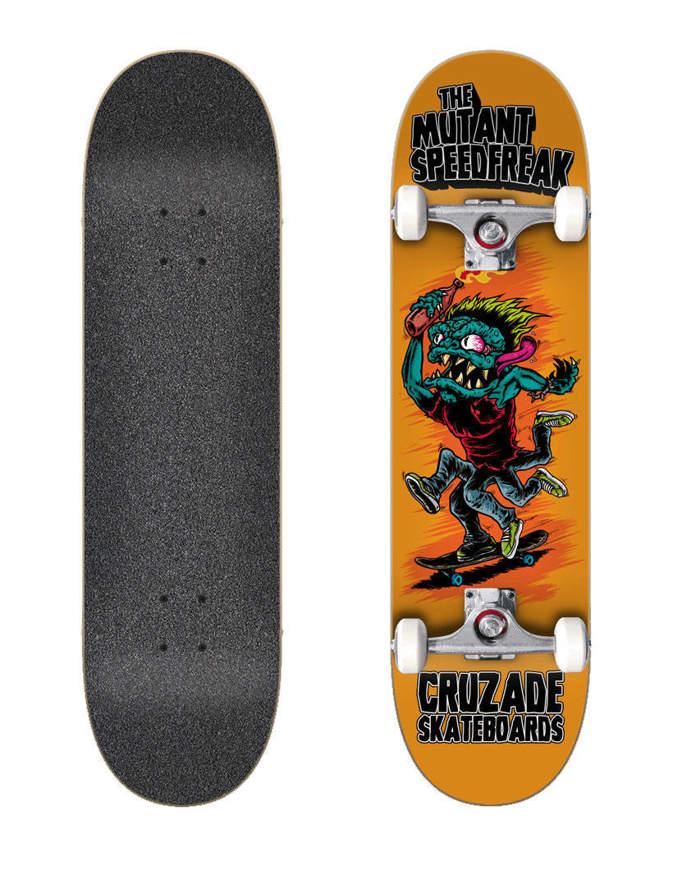 """Skateboard Cruzade Mutant Speedfreak 8.0"""" x31.85"""" Completo"""