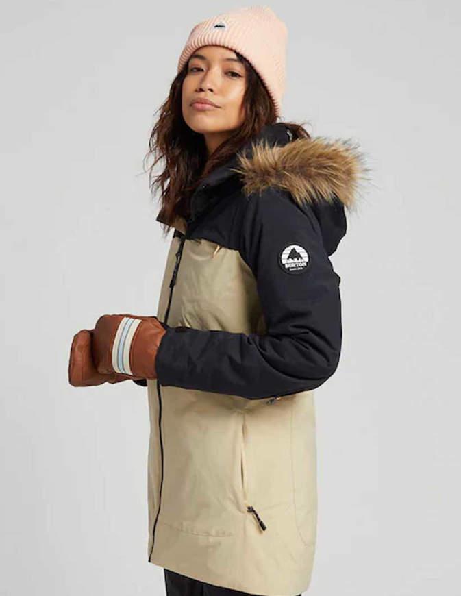 BURTON Lelah Giacca Snowboard Donna Nero/Crema