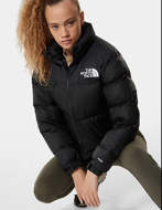 THE NORTH FACE Giacca Donna Nuptse Crop Nero