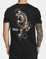 RVCA T-Shirt Tiger Krak Nera