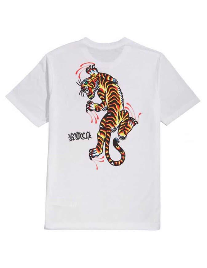 RVCA T-Shirt Tiger Krak White