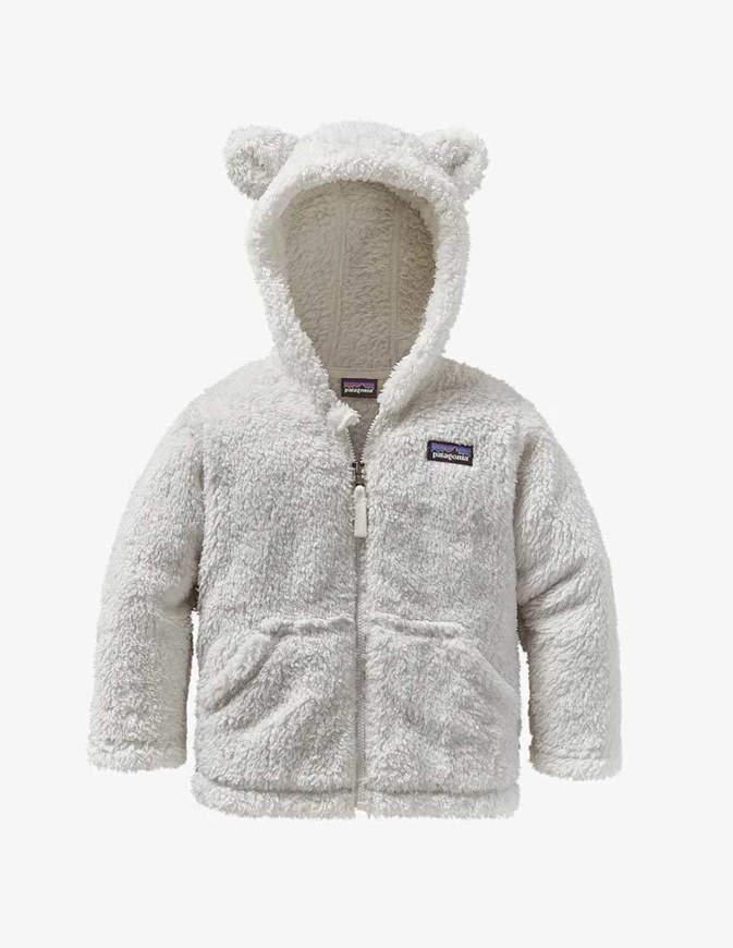 Patagonia Giacca Neonato Baby Furry Friends Hoody bianca