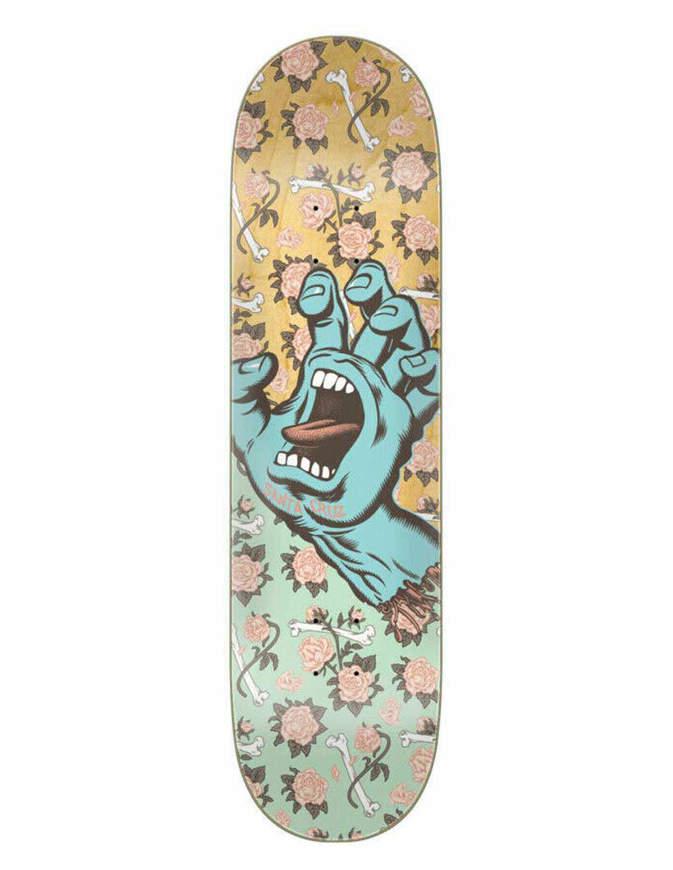 Tavola Skate Santa Cruz Floral Decay Hand 8.25in x 31.8in