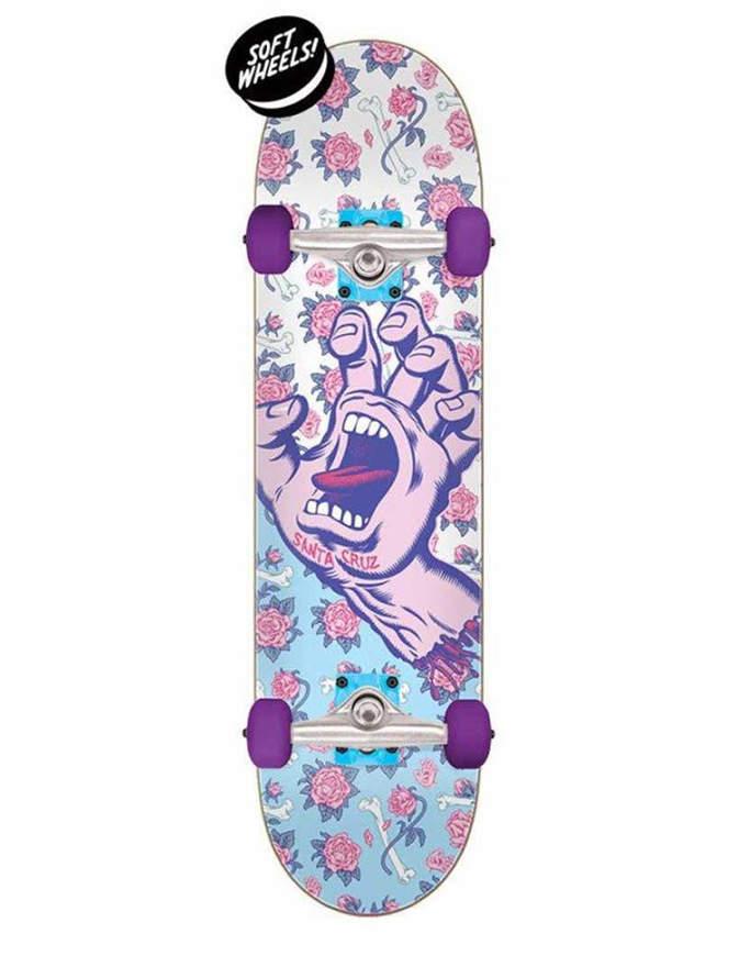 Skateboard Santa Cruz Floral Decay Hand Mini 7.75 Completo