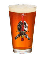 Powell Peralta Skate Skull & Sword Pint Glass