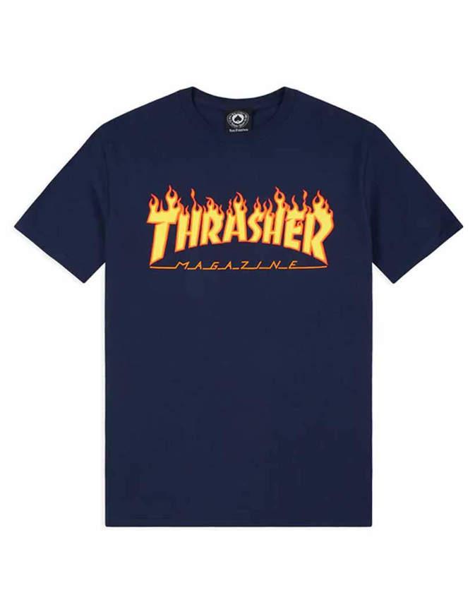 THRASHER T-Shirt Manica corta Flame Blu