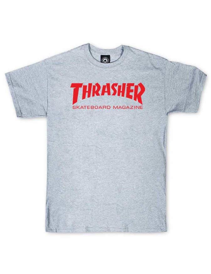 THRASHER T-Shirt Manica corta Skate Mag Grigia