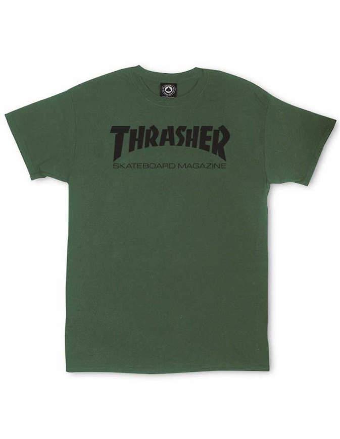 THRASHER T-Shirt Manica corta Skate Mag Verde