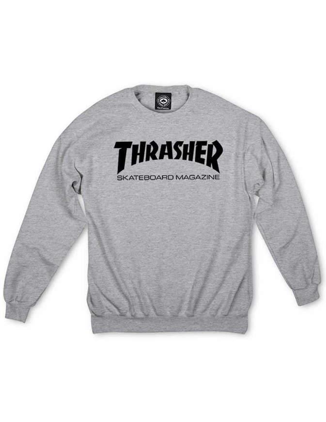 THRASHER Felpa Skate Mag Crewneck Grigia