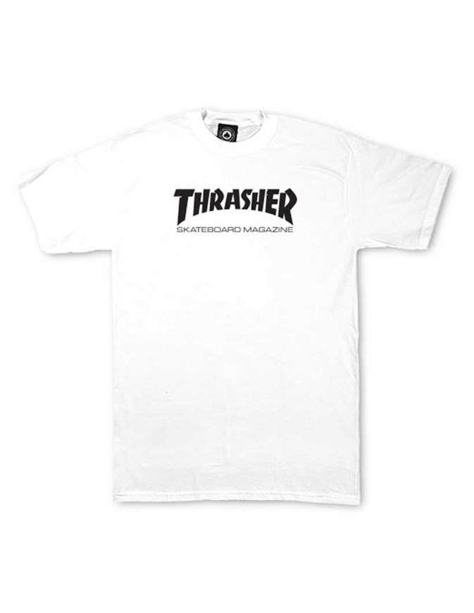 THRASHER T-Shirt Ragazzo Manica corta Skate Mag Bianca