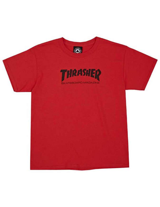 THRASHER T-Shirt Ragazzo Manica corta Skate Mag Rossa