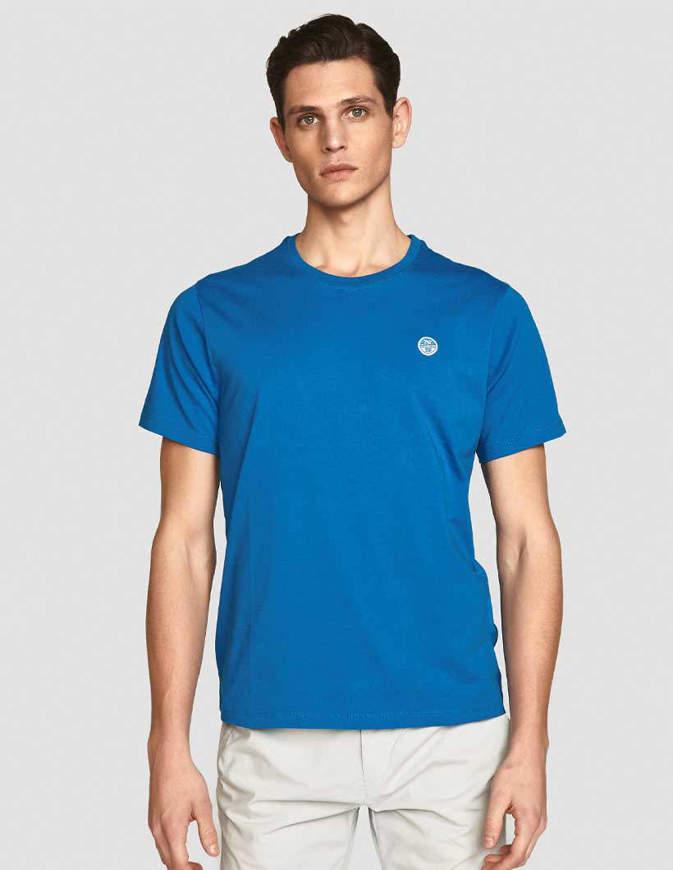 NORTH SAILS T-Shirt Cotton Jersey Azzurra