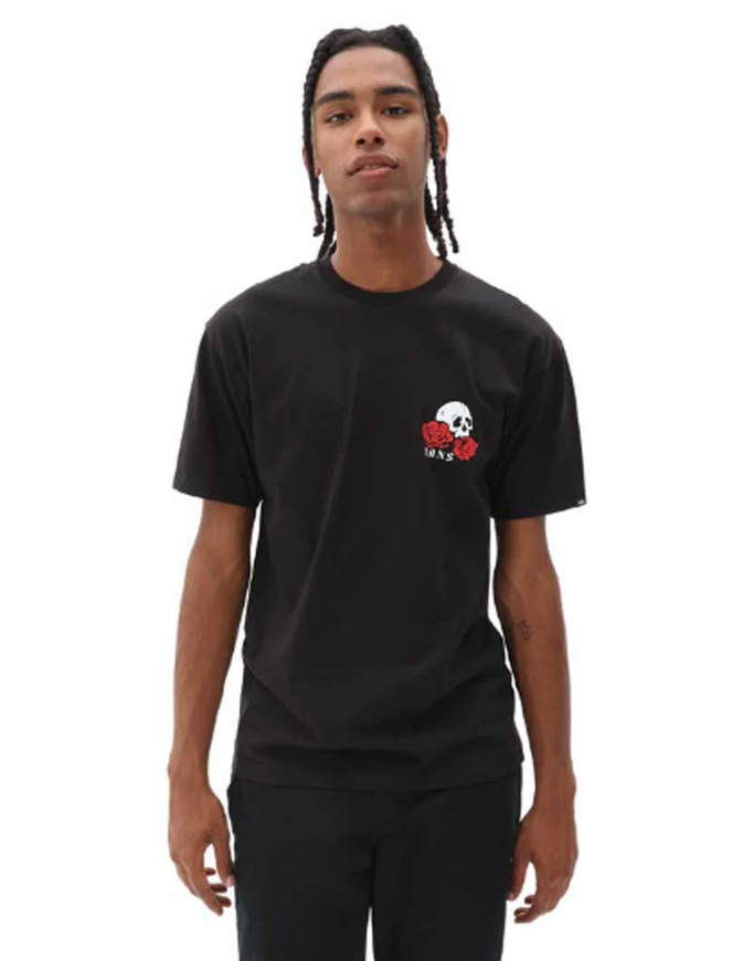 Vans T-shirt Manica Corta Bed Rose Nera