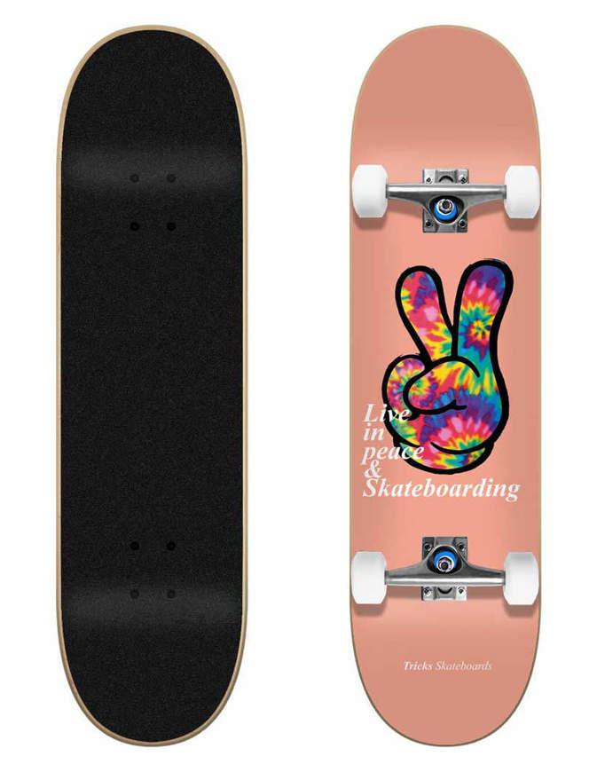 "Skateboard Tricks Peace 7.75"" Completo"