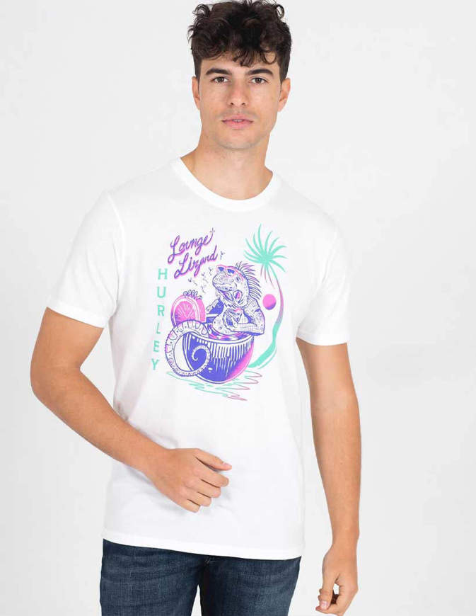 Hurley Everyday Washed Lounge Lizard T Shirt S/S Bianca