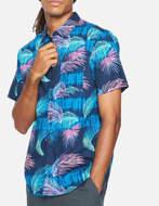 Hurley Camicia Org Redondo S/S Obsidian
