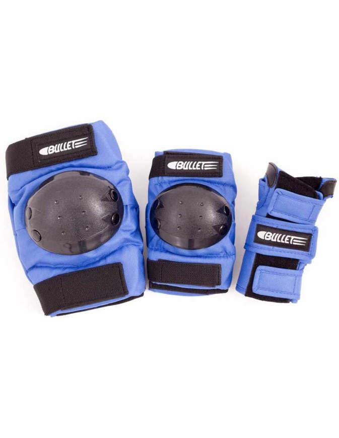 Set di Protezioni skate Bullet Triple Padset Standard combo Junior Blue