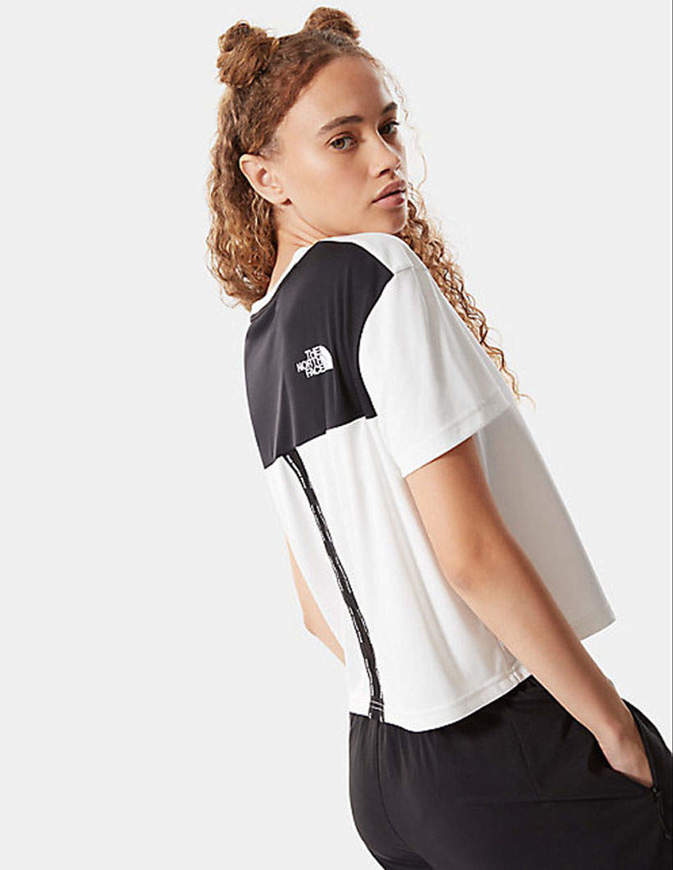 The North Face T-Shirt Cropped Mountain Athletics Donna Bianca