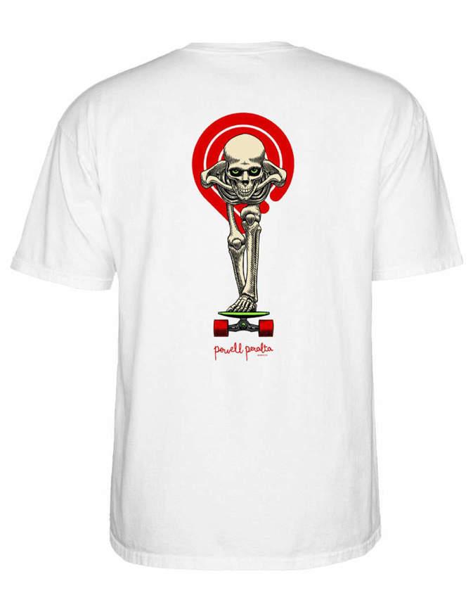 Powell Peralta T-shirt Tucking Skeleton Bianca