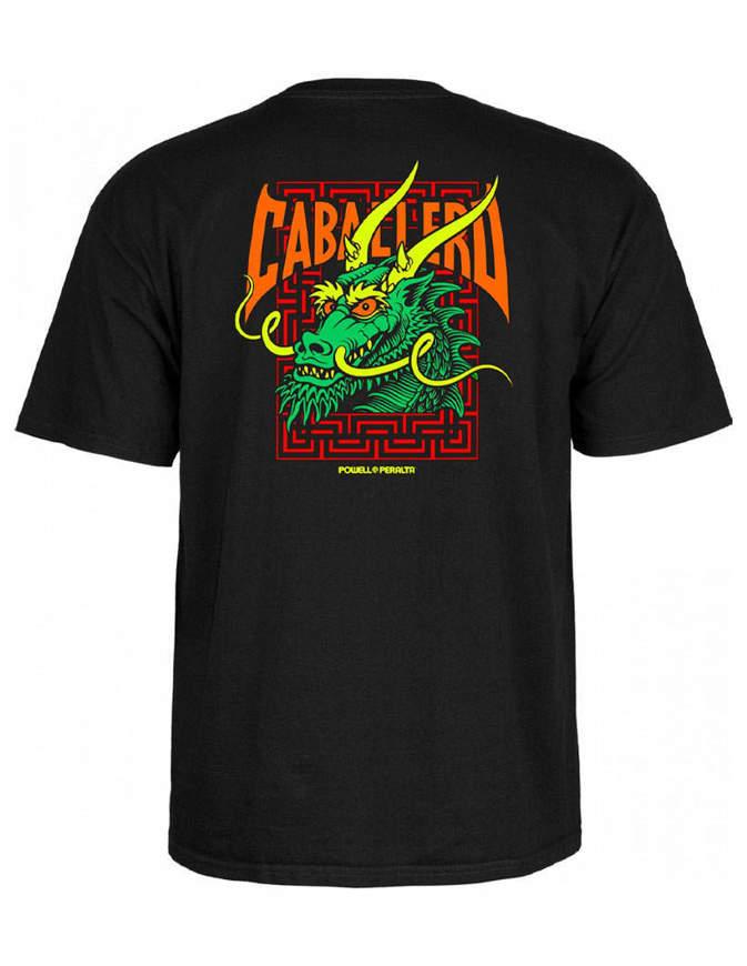 Powell Peralta T-shirt Caballero Street Dragon Nera