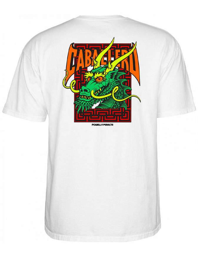 Powell Peralta T-shirt Caballero Street Dragon Bianca
