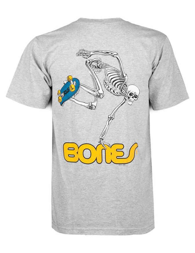 Powell Peralta Skateboarding Skeleton T-shirt Uomo Grigia