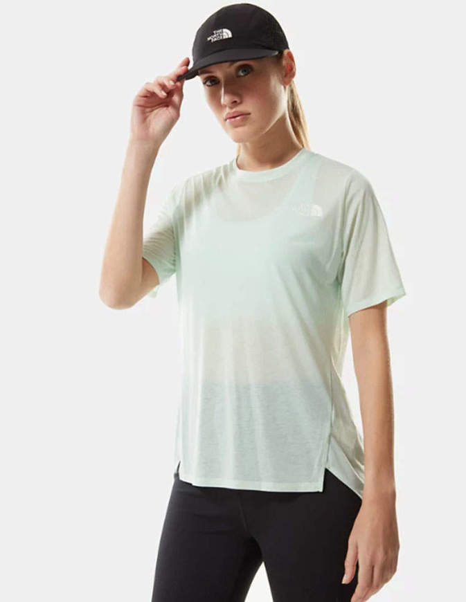 The North Face T Shirt Donna Up With The Sun Azzurra