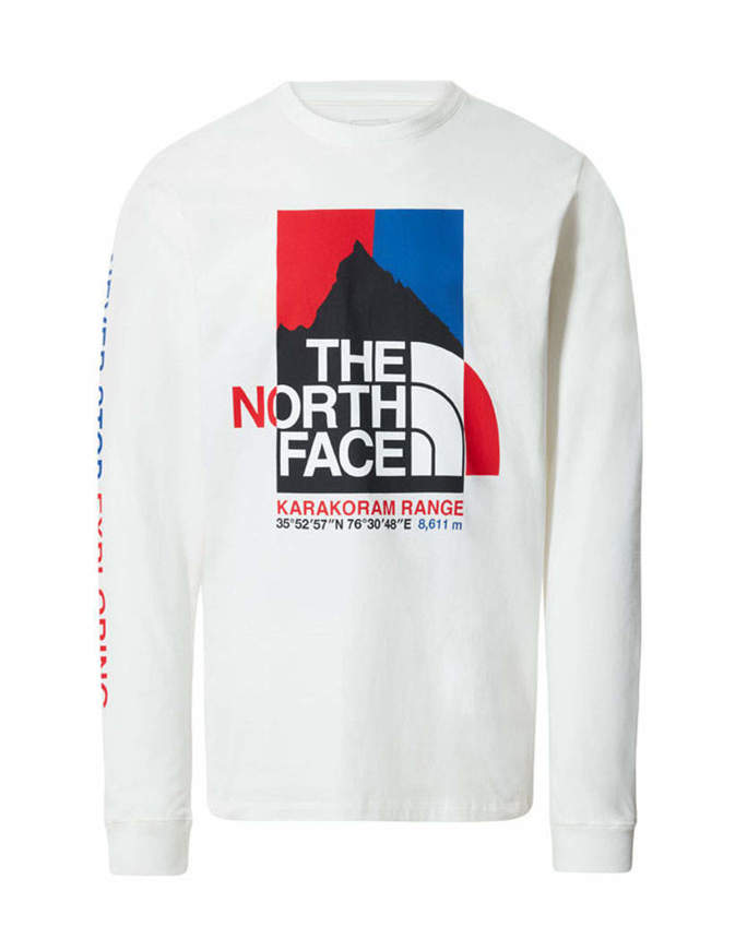 The North Face T-shirt Manica Lunga Uomo K2RM Bianca