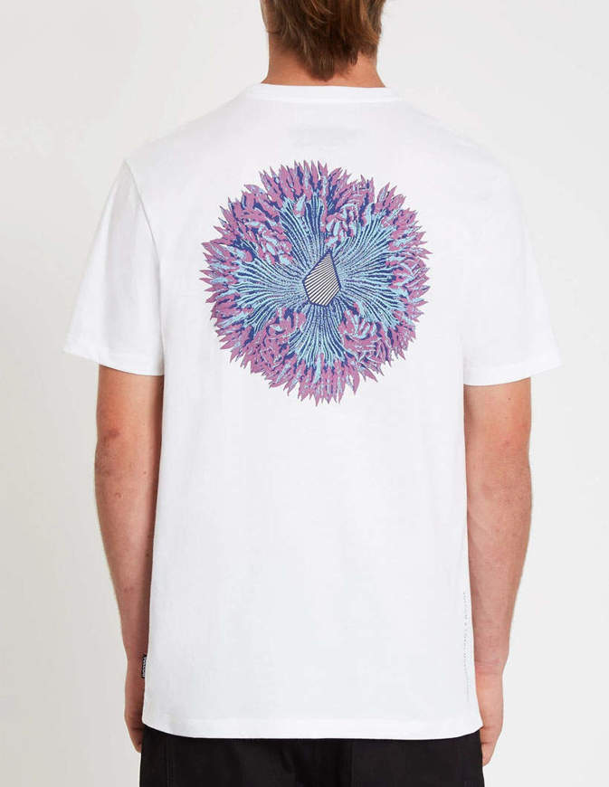 Volcom T-Shirt Coral Morph Bianca