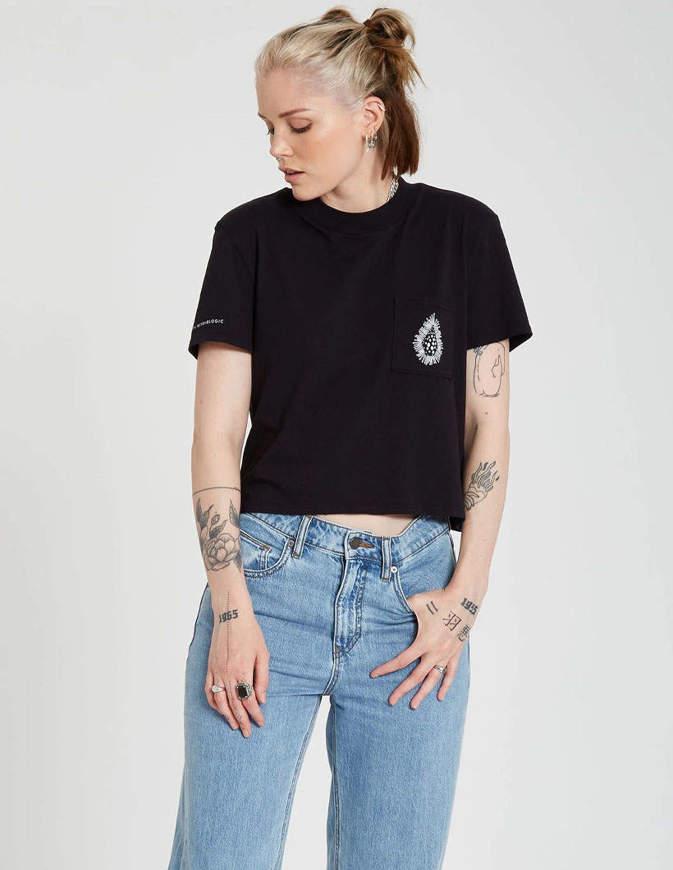 Volcom T-Shirt Donna Coral Morph Nera