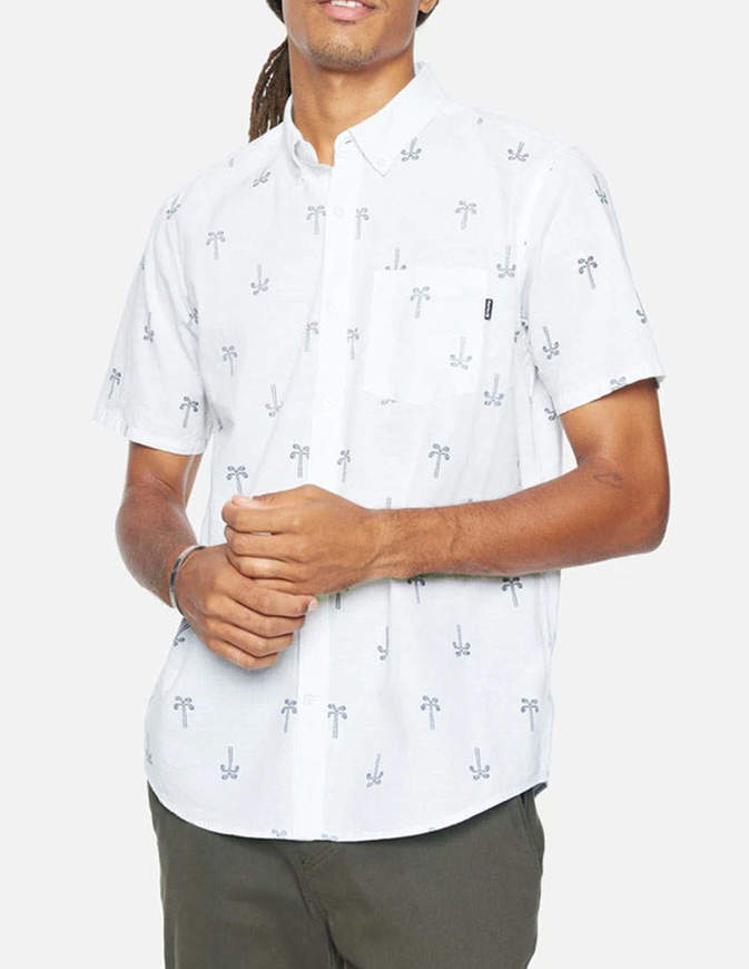 Hurley Camicia One & Only Paisley Palm Bianca
