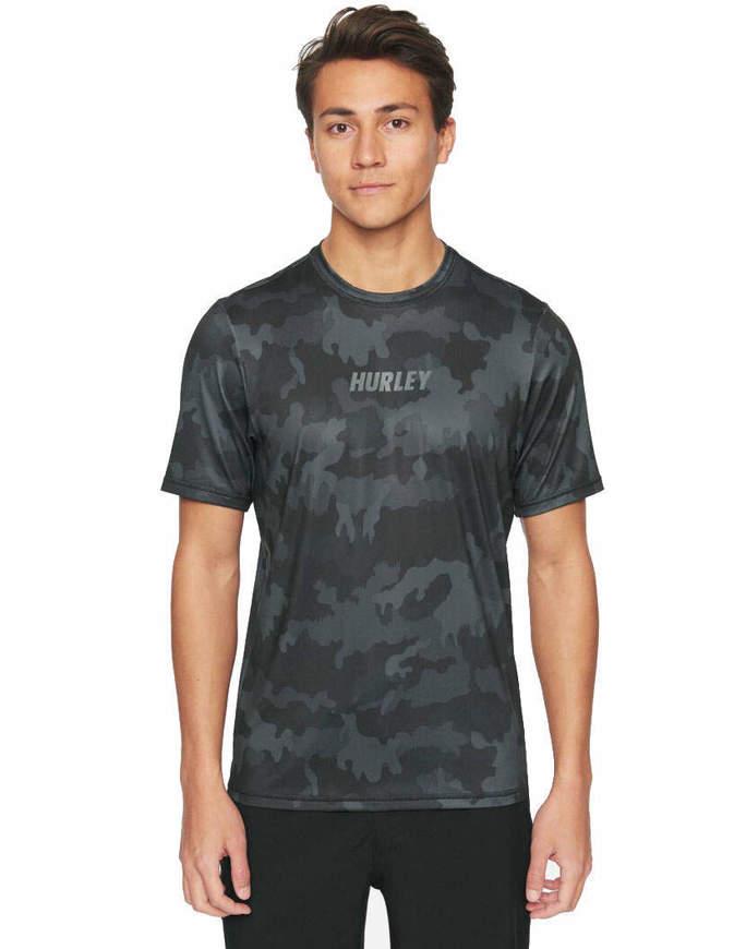 Hurley T-Shirt Fastlane Surf Grigia