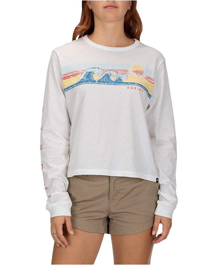 Hurley T-Shirt Donna Retrowave Perfect L/S Bianca