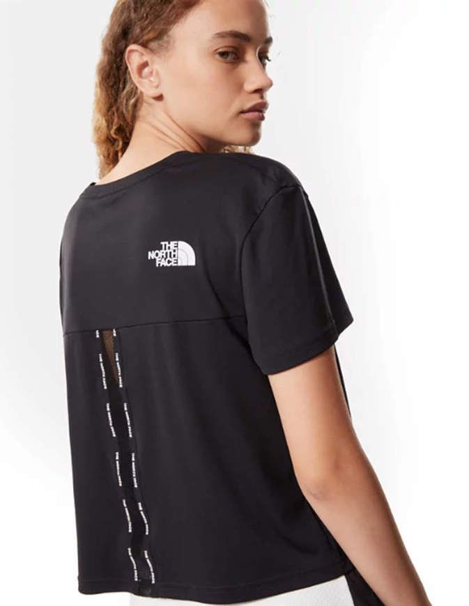 The North Face T-Shirt Cropped Mountain Athletics Donna Nera