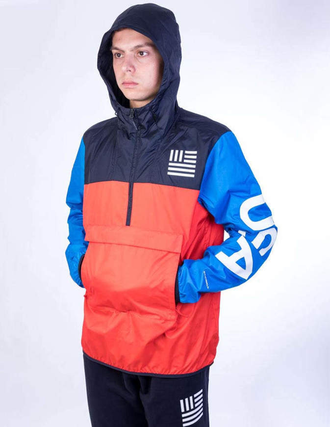 The North Face Giacca Ic Anorak Po Rosso/Blu