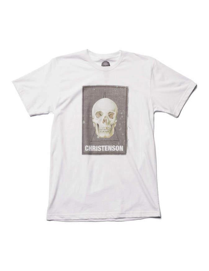 Christenson T-Shirt Cigar Box skull Bianca