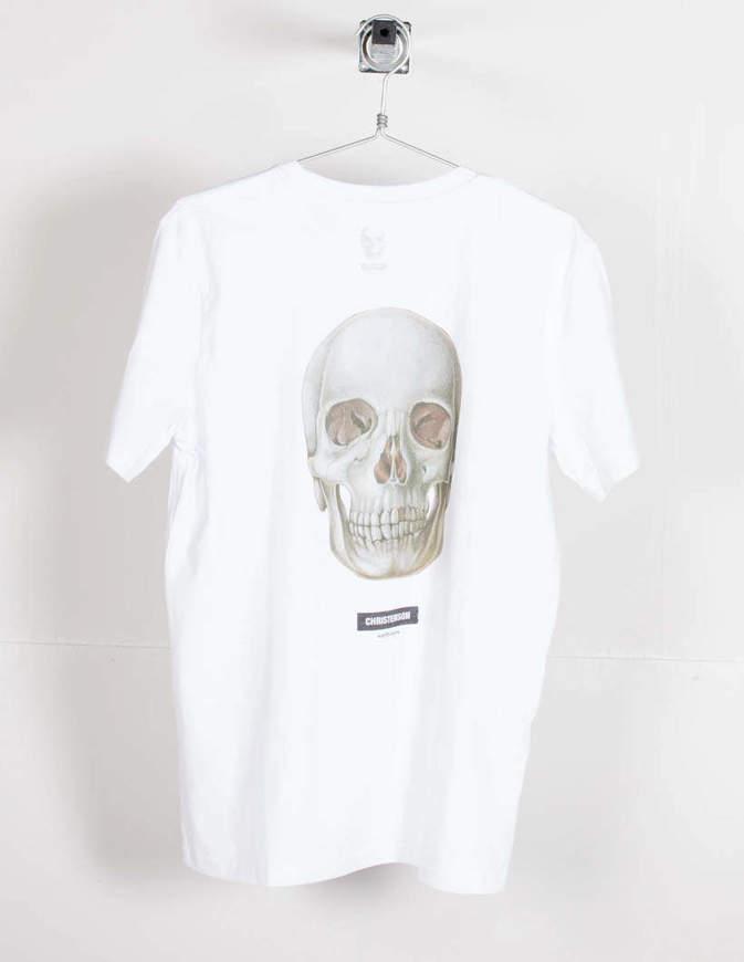 Christenson T-Shirt Round skull Bianca