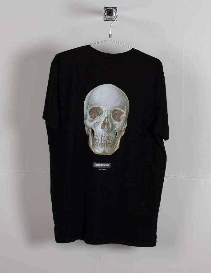 Christenson T-Shirt Round skull Nera