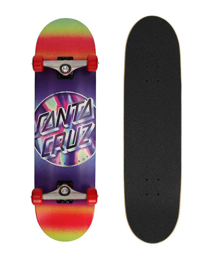 "Skateboard Deck Santa Cruz Iridescent Dot Large SK8 8.25"""
