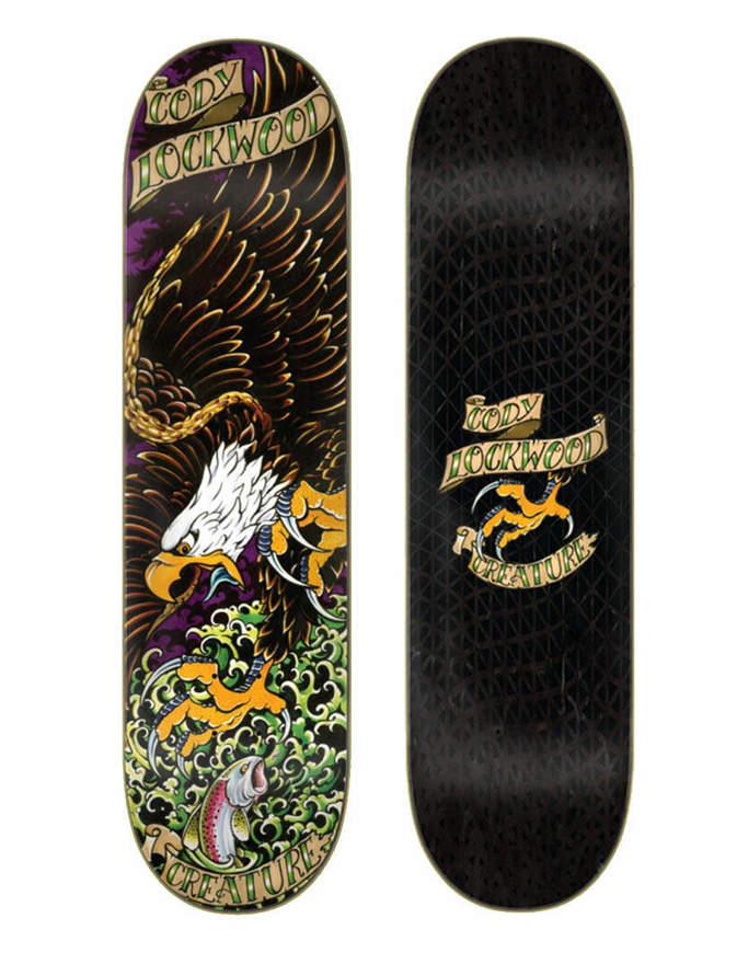"Skateboard Deck Creature Lockwood Beast of Prey 8.25"""